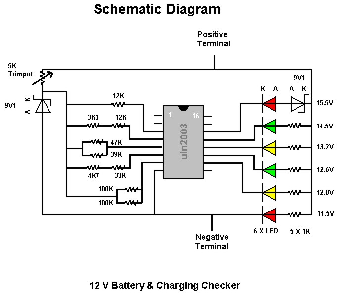 12v battery level indicator for car batteries cdiagram. Black Bedroom Furniture Sets. Home Design Ideas