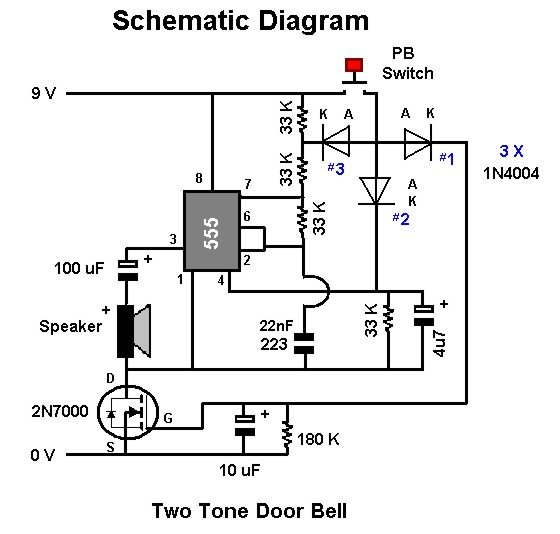 Circuit Diagram Of 2 Tone Door Bell - Wire Data Schema •