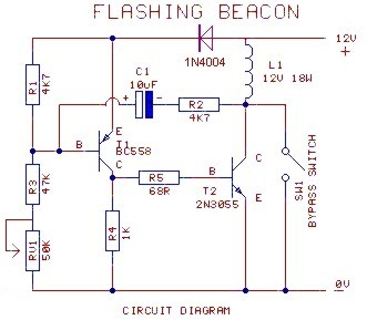 12 volt flashing beacon rh cdselectronics com 120V LED Wiring Diagram LED Fluorescent Replacement Wiring Diagram